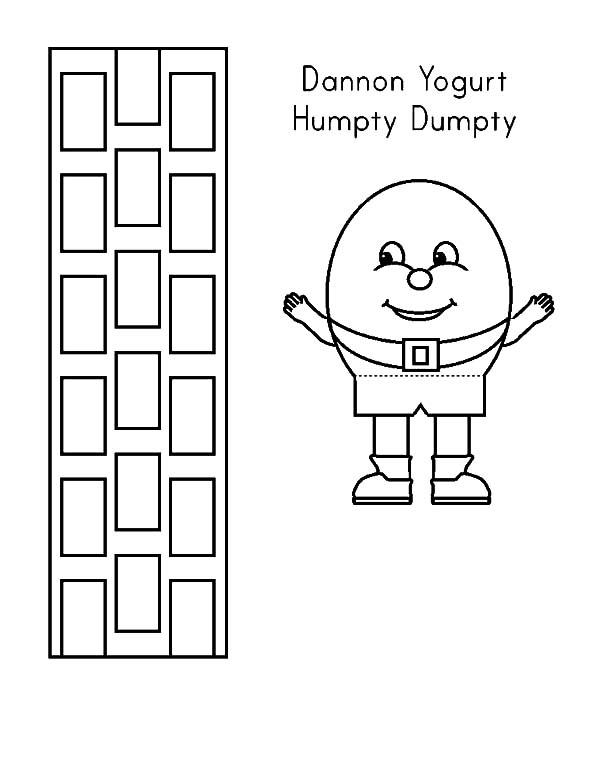 Dannon Yogurt Humpty Dumpty Coloring Pages Coloring Sky