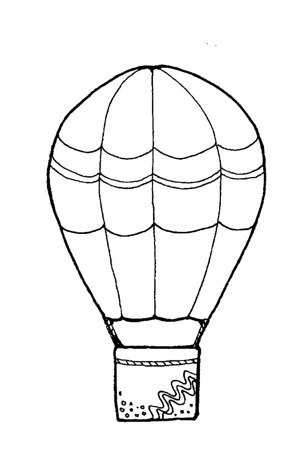 Decorated Hot Air Balloon Coloring Pages Coloring Sky