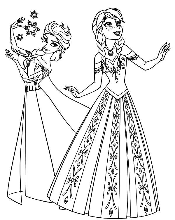 frozen disney princess coloring pages - photo#5