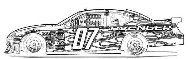Dodge Avenger Car Coloring Pages