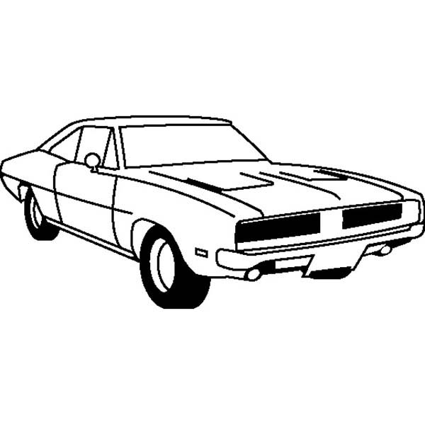 69 Dodge Charger Coloring Pages