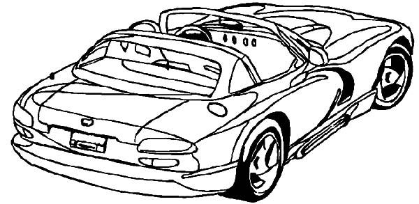 dodge viper drag car coloring pages
