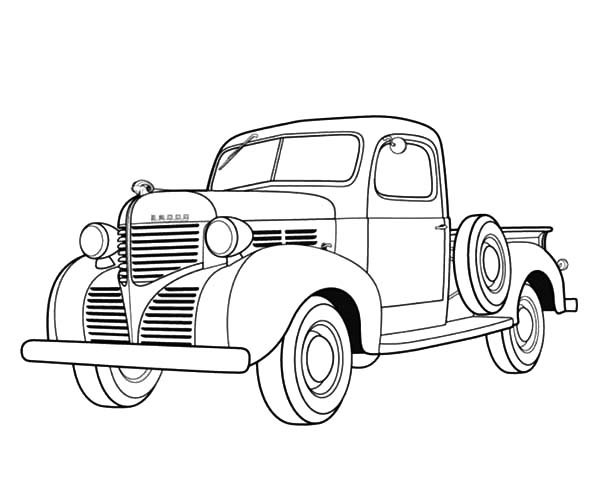- Dodge Pickup 1939 Old Car Coloring Pages : Coloring Sky