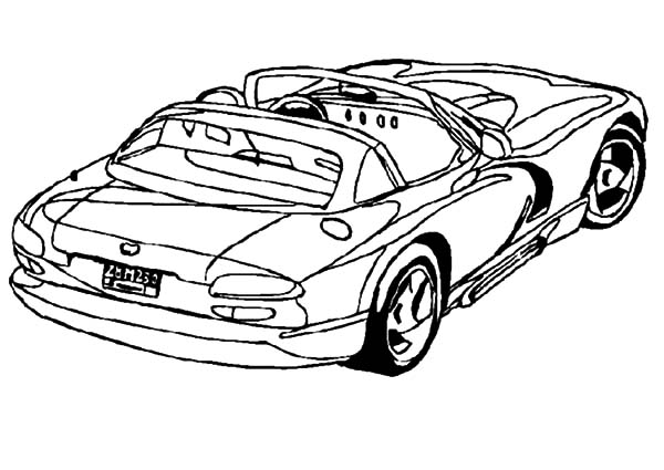 Dodge Cars, : Dodge Viper Coupe Car Coloring Pages