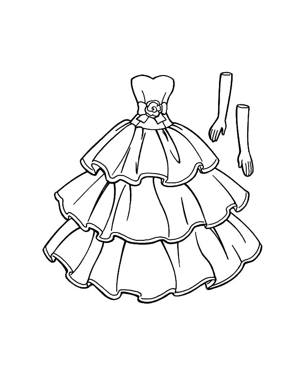 Download Barbie Doll With Dress At The Garden Coloring Pages ...