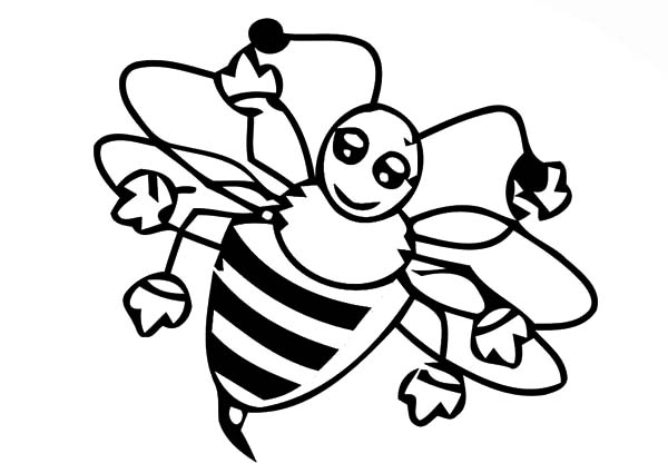 Honey Bee, : Female Honey Bee Coloring Pages