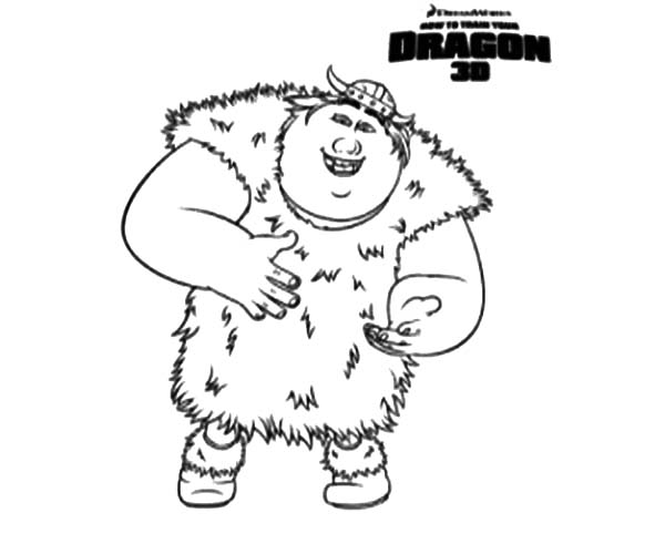 How To Train Your Dragon, : Fishlegs Ingerman Viking in How to Train Your Dragon Coloring Pages