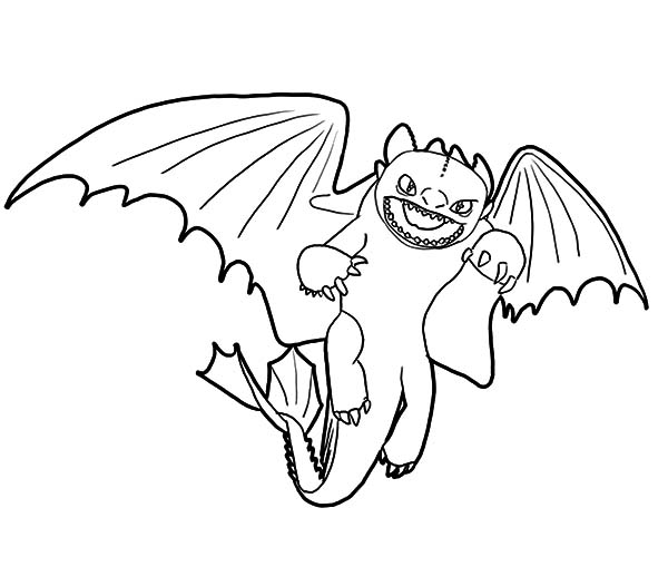 How To Train Your Dragon, : Furious Night Fury How to Train Your Dragon Coloring Pages
