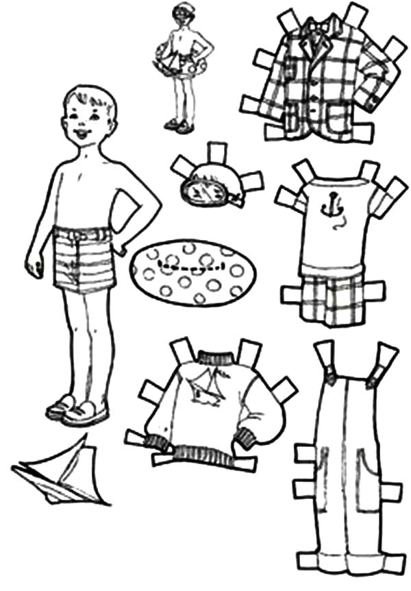 Going To Beach Doll Dress Coloring