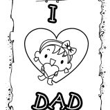 Daddy And Her Daughter I Love Dad Coloring Pages ...