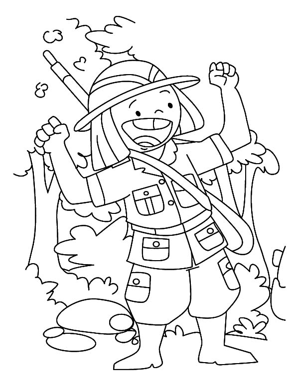 Aiming at Deer Hunting Coloring Pages Coloring Sky