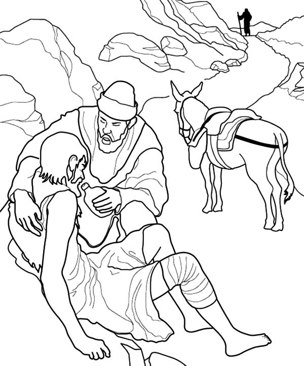 Helping Others Dying Thirsty People Coloring Pages ...