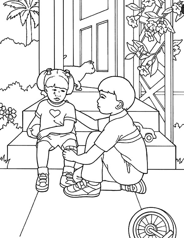 helping others coloring pages | Coloring Pages