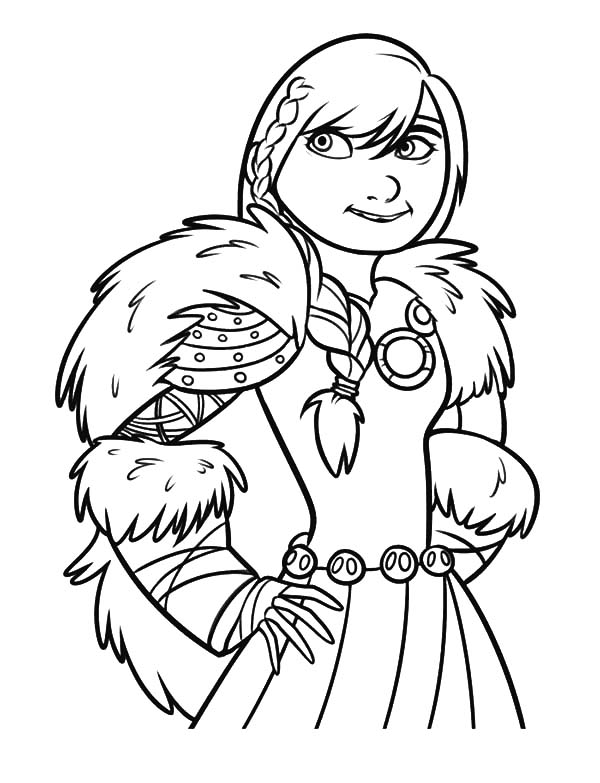 How To Train Your Dragon, : Hiccup Girlfriend Astrid in How to Train Your Dragon Coloring Pages