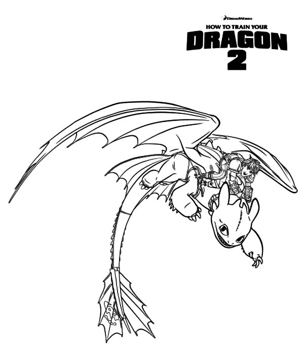 - Hiccup Ride Toothless In How To Train Your Dragon Coloring Pages : Coloring  Sky