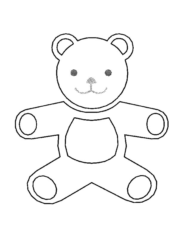 Holidays Teddy Bear Outline Coloring Pages Coloring Sky