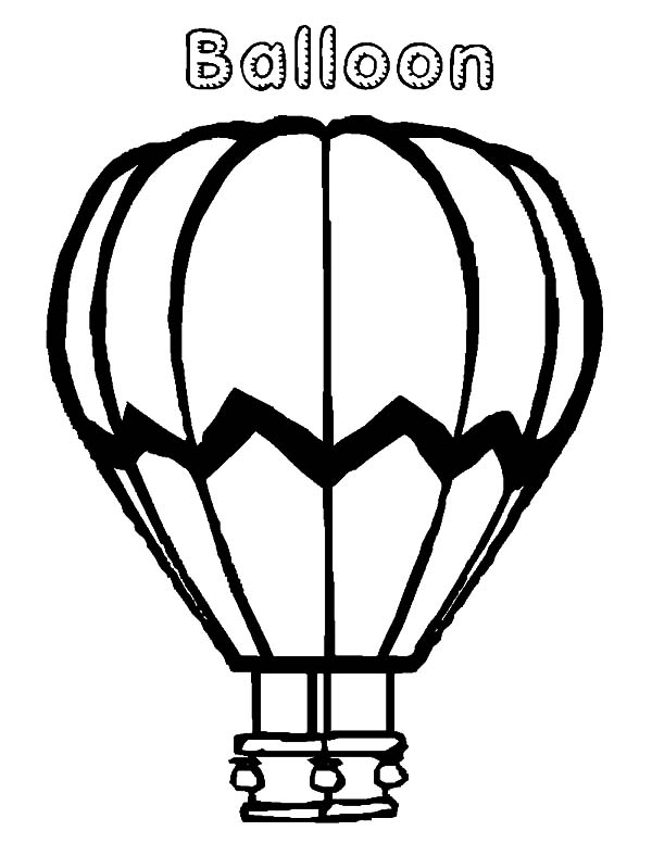 - Hot Air Balloon Coloring Pages : Coloring Sky