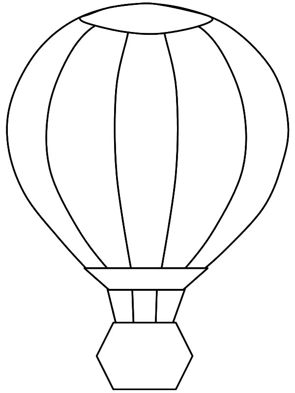 air transport coloring pages | Hot Air Balloon Transportation Coloring Pages : Coloring Sky