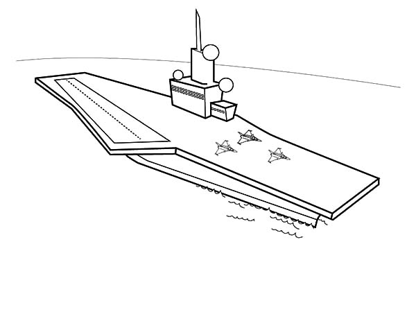 Coloring pages aircraft carrier ~ How To Draw Aircraft Carrier Coloring Pages : Coloring Sky