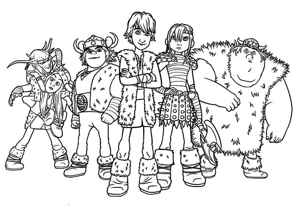 How To Train Your Dragon Characters Coloring Pages : Coloring Sky