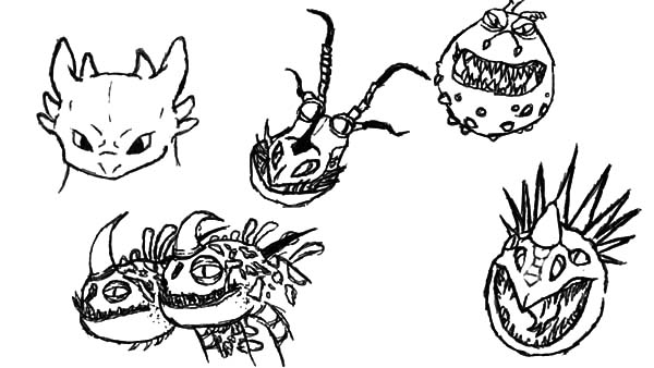 How To Train Your Dragon, : How to Train Your Dragon Drawing Dragons Head Coloring Pages