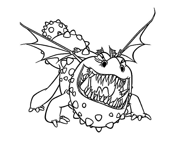 How To Train Your Dragon, : How to Train Your Dragon Growling Gronckle Coloring Pages