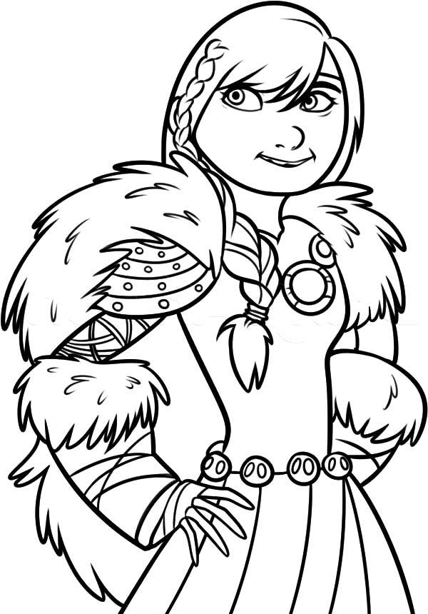 How To Train Your Dragon, : How to Train Your Dragon Hiccup Girlfriend Coloring Pages