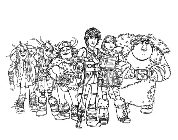 How To Train Your Dragon, : How to Train Your Dragon Hiccup and Friends Coloring Pages