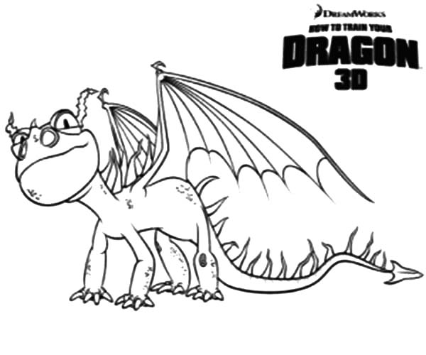 How To Train Your Dragon, : How to Train Your Dragon The Smallest Dragons are Terrible Terror Coloring Pages