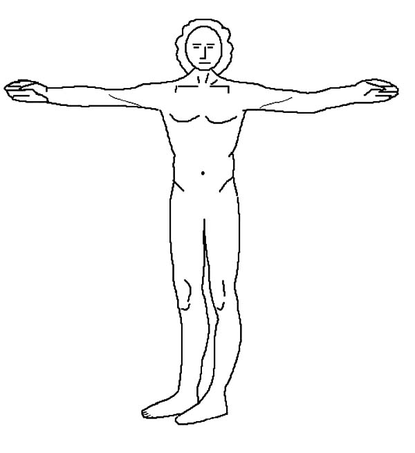 Human Body, : Human Body Example Coloring Pages