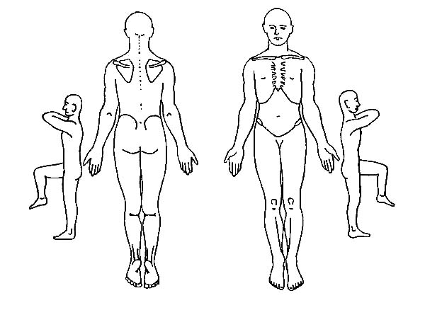 Human Body, : Human Body Movement Coloring Pages