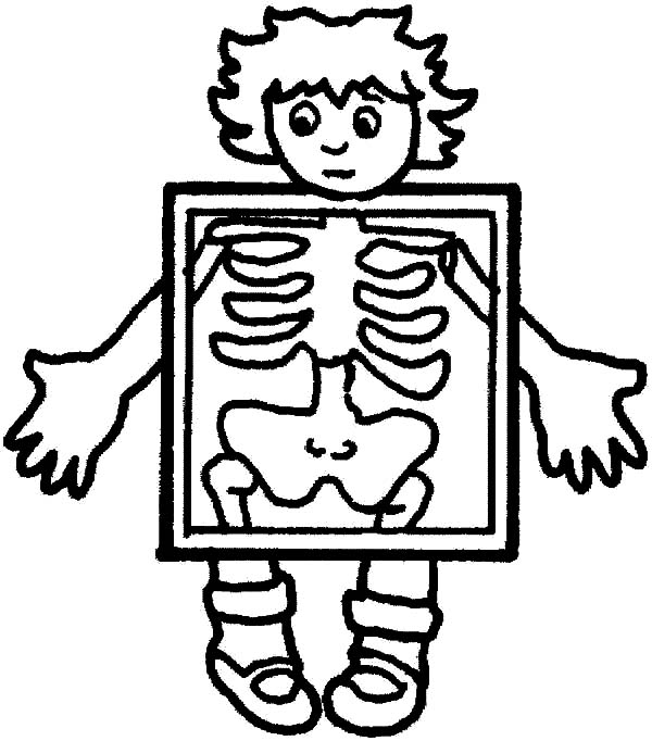 Human Body Rontgen Coloring Pages