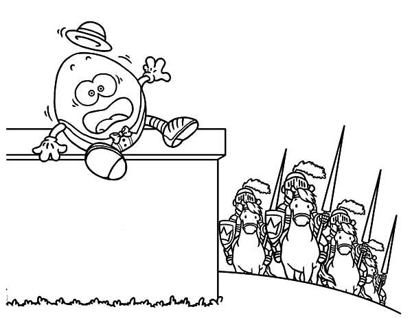 Humpty Dumpty, : Humpty Dumpty All the Kings Horses Coloring Pages