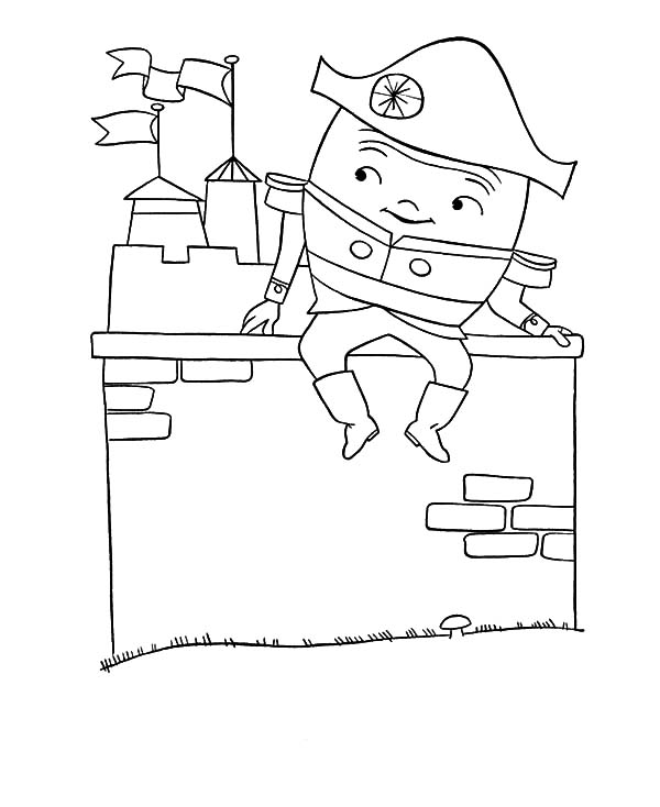 Humpty Dumpty, : Humpty Dumpty All the Kings Men Coloring Pages