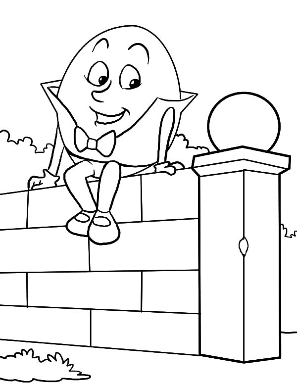 Humpty Dumpty, : Humpty Dumpty Coloring Pages