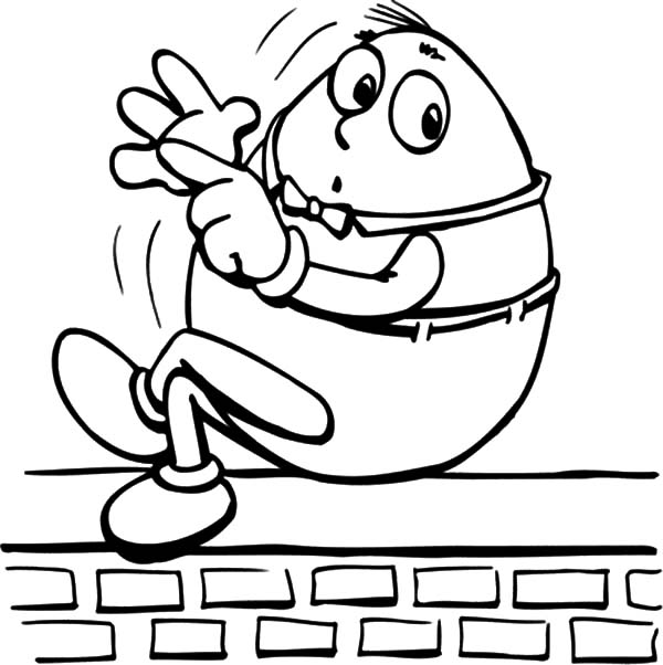 Humpty Dumpty, : Humpty Dumpty Counting with His Finger Coloring Pages