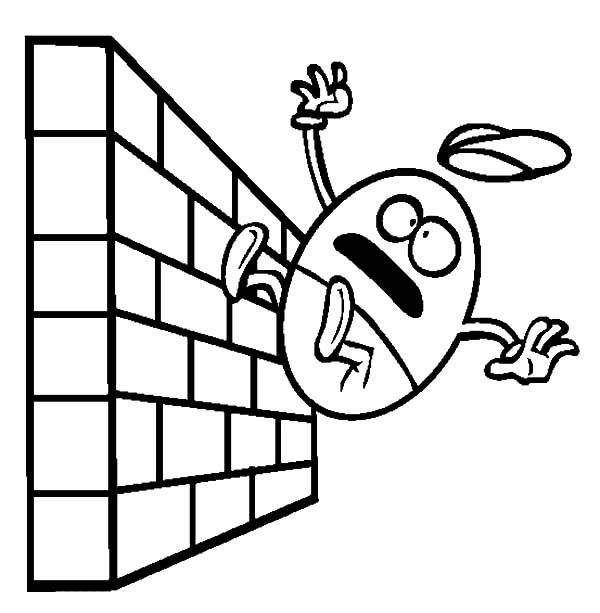 Humpty Dumpty, : Humpty Dumpty Falling from the Wall Coloring Pages