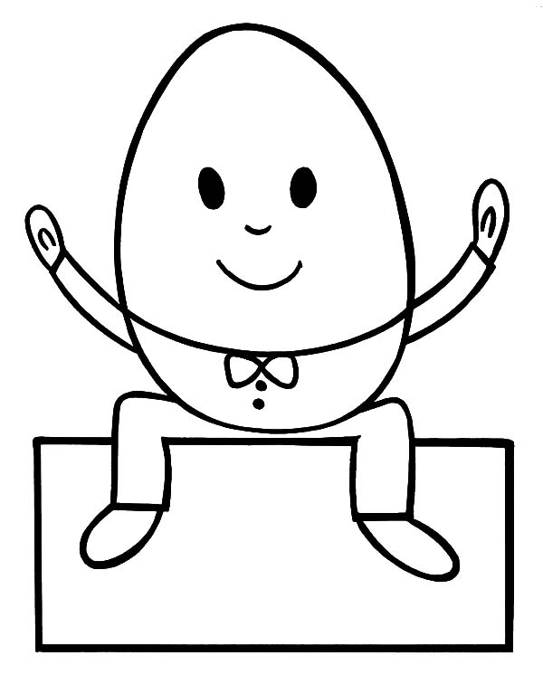 Humpty Dumpty Outline Coloring Pages