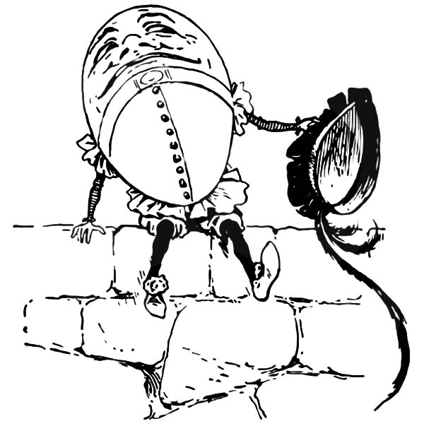 Humpty Dumpty, : Humpty Dumpty Sitting on a Wall Coloring Pages