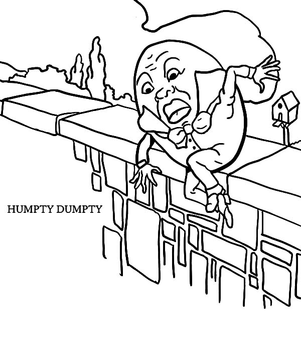 Humpty Dumpty, : Humpty Dumpty Slips Away Coloring Pages