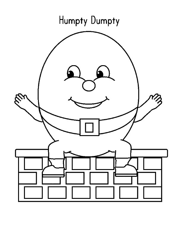 Humpty Dumpty, : Humpty Dumpty Spread His Hand Wide Coloring Pages