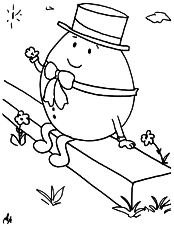Humpty Dumpty, : Humpty Dumpty Watching Star Coloring Pages