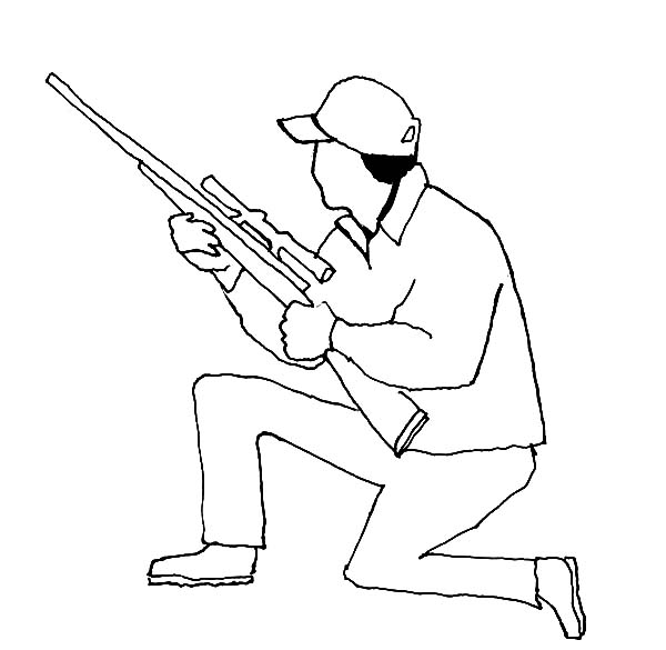 Hunting, : Hunting Deer Outline Coloring Pages