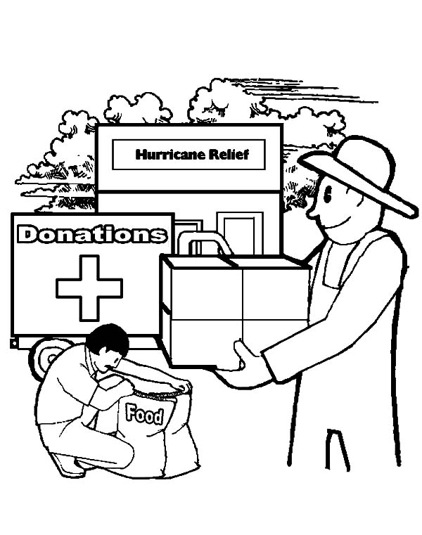 Helping Others, : Hurricane Relief Helping Others Coloring Pages