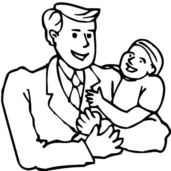 I Love Dad May Father is the Best Coloring Pages