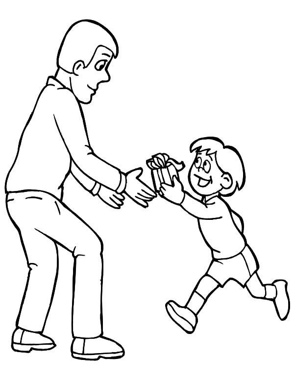 I Love Dad, : I Love Dad My Gift for You Daddy Coloring Pages