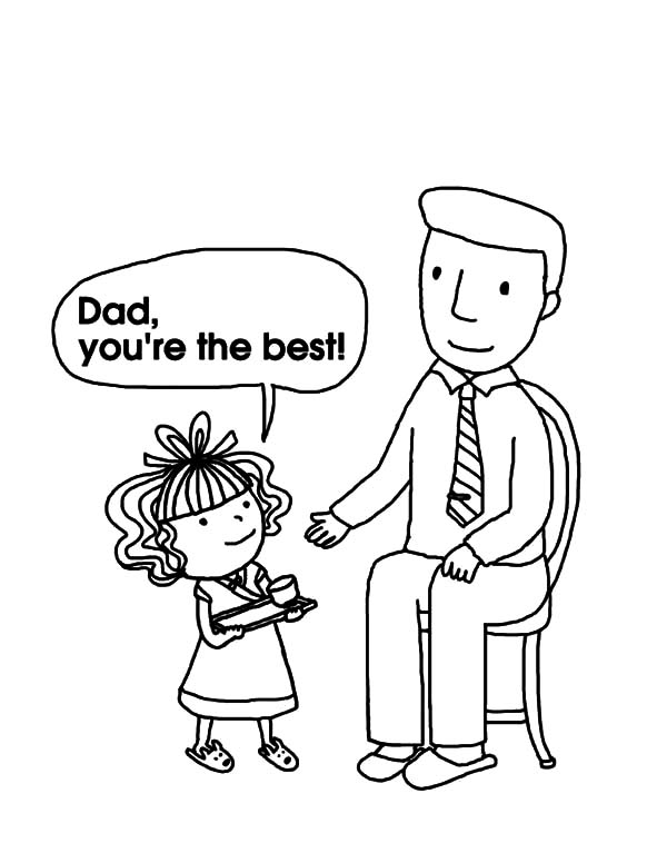 I Love Dad, : I Love Dad You are the Best Coloring Pages