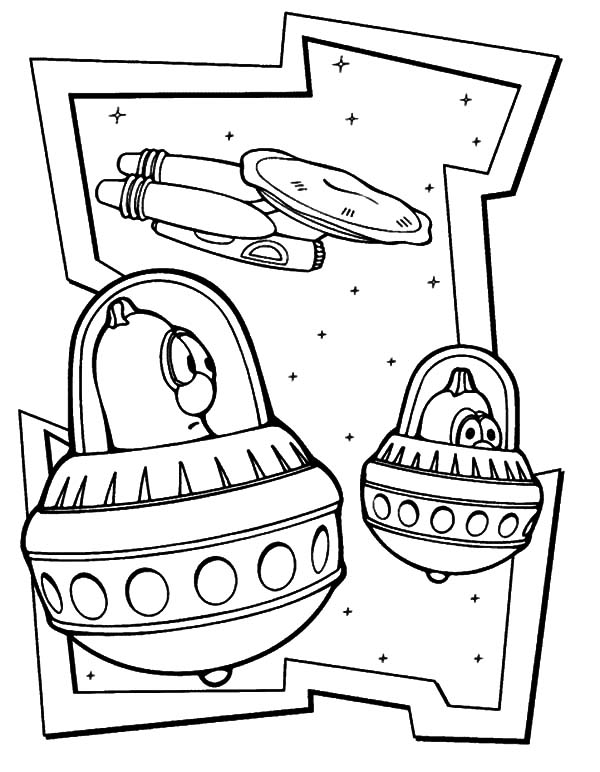 Larry Boy Adventure Of The Outer Space Coloring Pages Coloring Sky