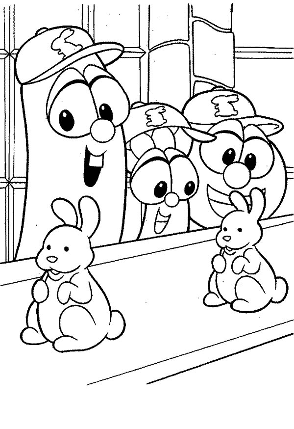 Larry Boy Bunny Doll In Line Coloring Pages Coloring Sky