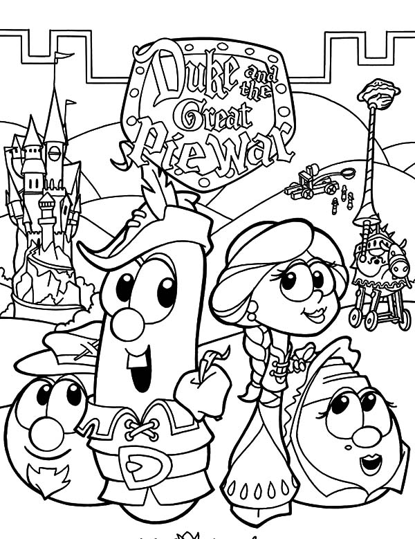 larry boy duke and the great pie war coloring pages
